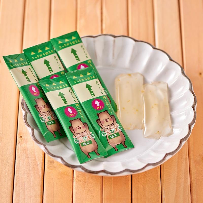 井村屋ウェブショップ|もっちりぷるんわらびもち 柚子: 菓子・スイーツ|懐かしくても、新しい。心のこもった品質を